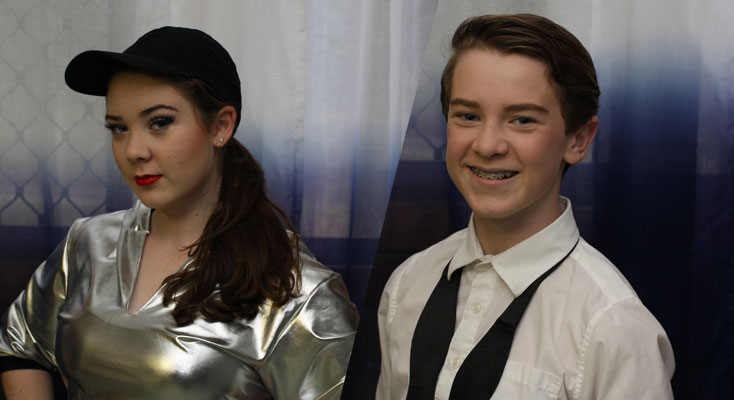 Emilee and Matthew Pedder, of Medowie, poised to dazzle the crowds at the 2016 Star Struck performance at Newcastle Entertainment Centre