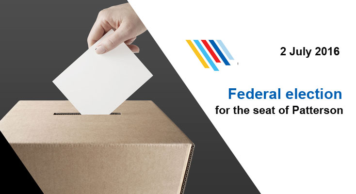 Federal election for the seat of Patterson