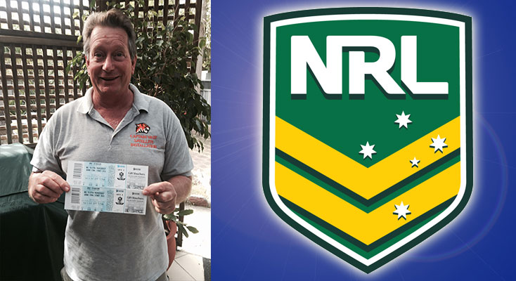 Gary Howlett from Nelson Bay, winner of last years, News Of The Area NRL Tipping Comp.