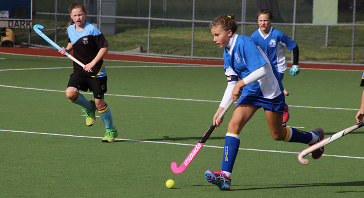 Hannah Baster at the Hunter PSSA Hockey Carnival