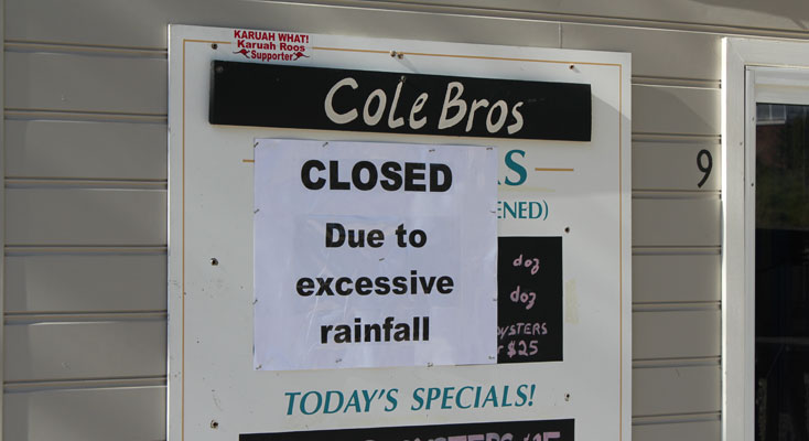 Like most Oyster Farmers in the area, Cole Brothers have been forced to shut shop due to salinity levels.