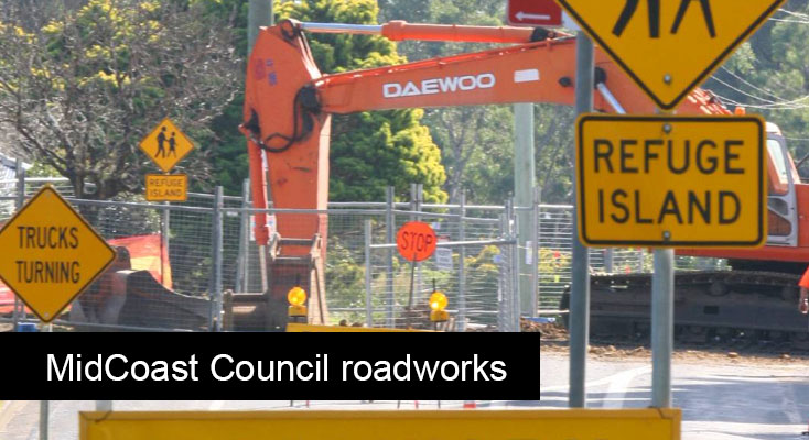 -MidCoast Council is undertaking work to improve road surface road to improve its condition and safety, drainage, and piping system around the region
