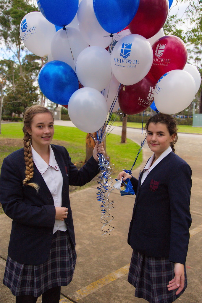Medowie Christian will showcase its facilities at the Open Day: Elizabeth Patton, Year 10 (L) and Tani Broadhead, Year 8 (R).