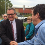 Labor candidate for Lyne Peter Alley tours Myall Coast area.