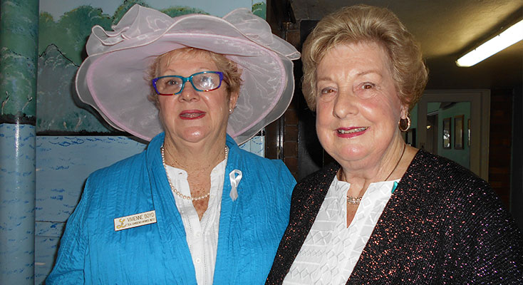 Pres.Vivienne with Cheryl Millburn our speaker on the day for Ovarian cancer.