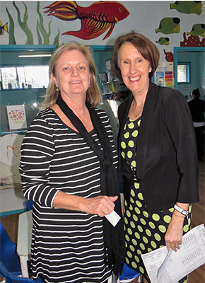 : Preschool Director Judy Clarke and NSW Minister for Early Childhood Education the Hon. Leslie Williams.