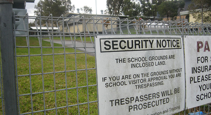 School grounds off limits outside school hours