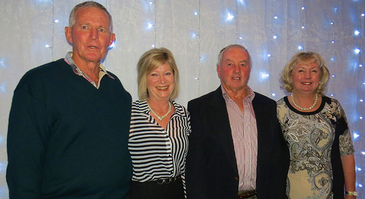 Show Society Vice-President Leo Turnbull, Show Ball Organiser Sheree Robards, Show President Garry Gooch and Volunteer Kerrie Gooch.