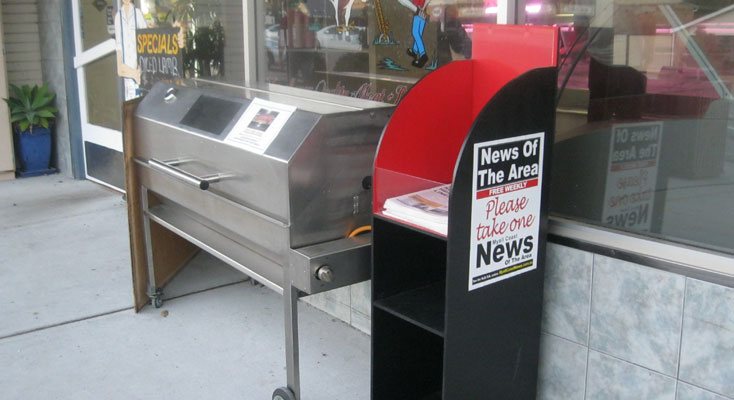 The Bulahdelah IGA has had a news stand for the distribution of the paper for the last 2 years.