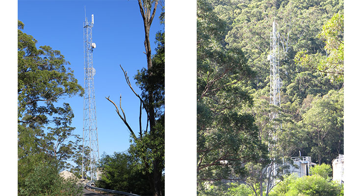 The new tower at Bulahdelah