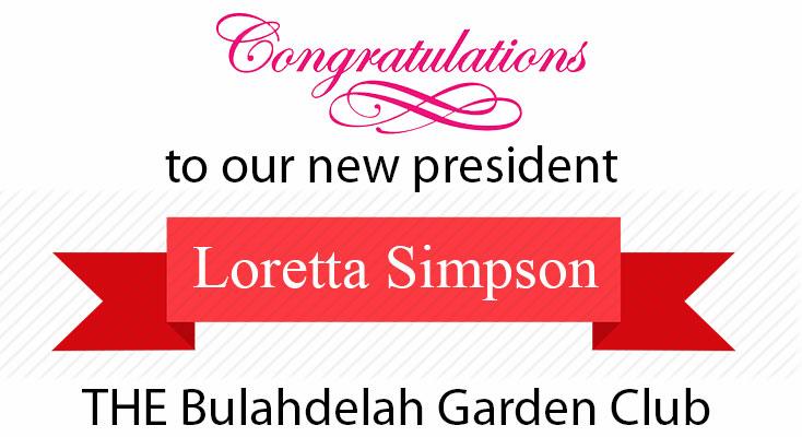 Congratulation to THE Bulahdelah Garden Club new president
