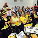 First MidCoast Council meeting interrupted by Knitting Nannas protest