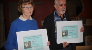 Anne and Kevin Haskew with their awards