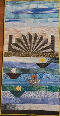 Scarlett's award winning quilt, I Love Sydney.