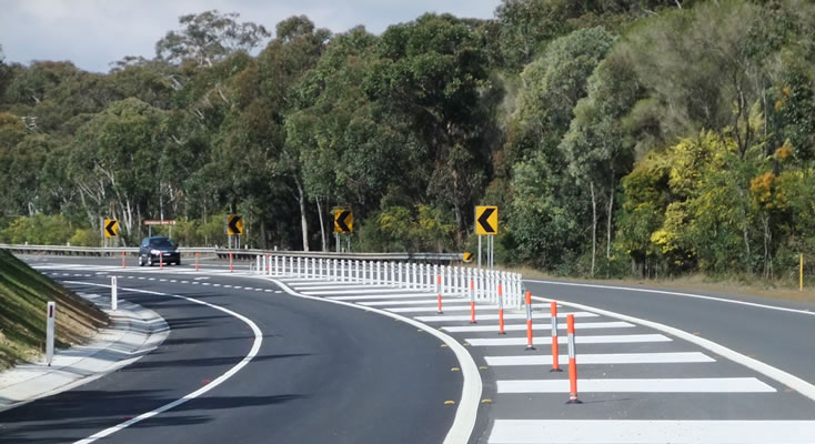 road safety improvements on the Pacific Highway at Nerong