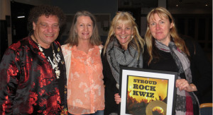 Bulahdelah Bandits John Sahyoun, Val Clifford, Karen Shultz and Gay Tooze take the Stroud Rock Kwiz win held at Stroud Country Club