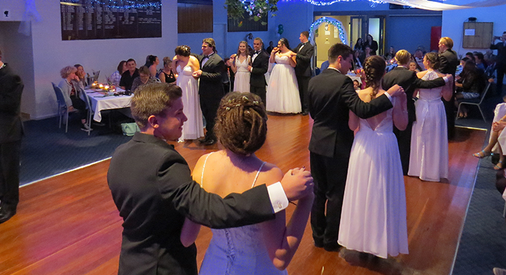 FORMAL DANCE: Debutantes and their partners entertain with traditional ballroom dances