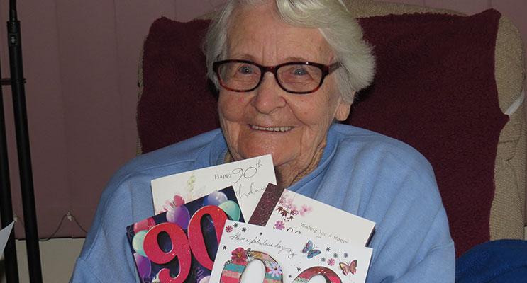 BIRTHDAY: Mrs Noreen Relf celebrates 90 years.