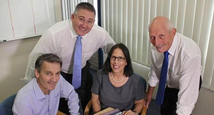 (L to R): The new executive team for MidCoast Council, Steve Embry, Paul De Szell, Lisa Schiff and Ron Hartley (Absent: Glenn Handford).