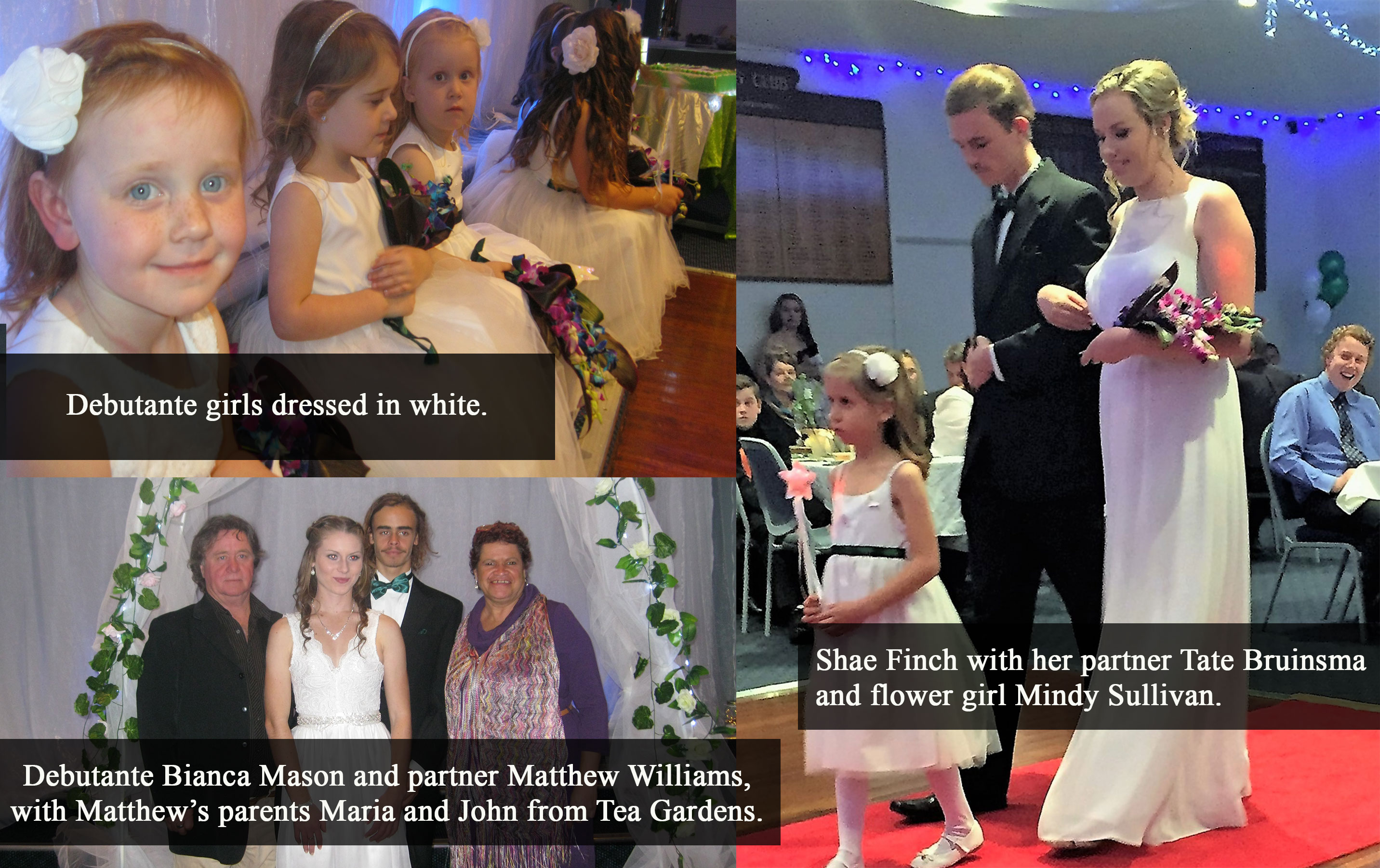 Debutantes in white shine at Bulahdelah's Debutante Ball