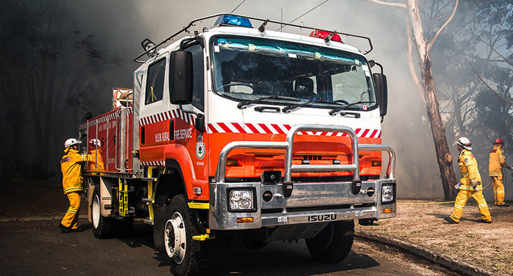 NSW Rural Fire Service (RFS) in action