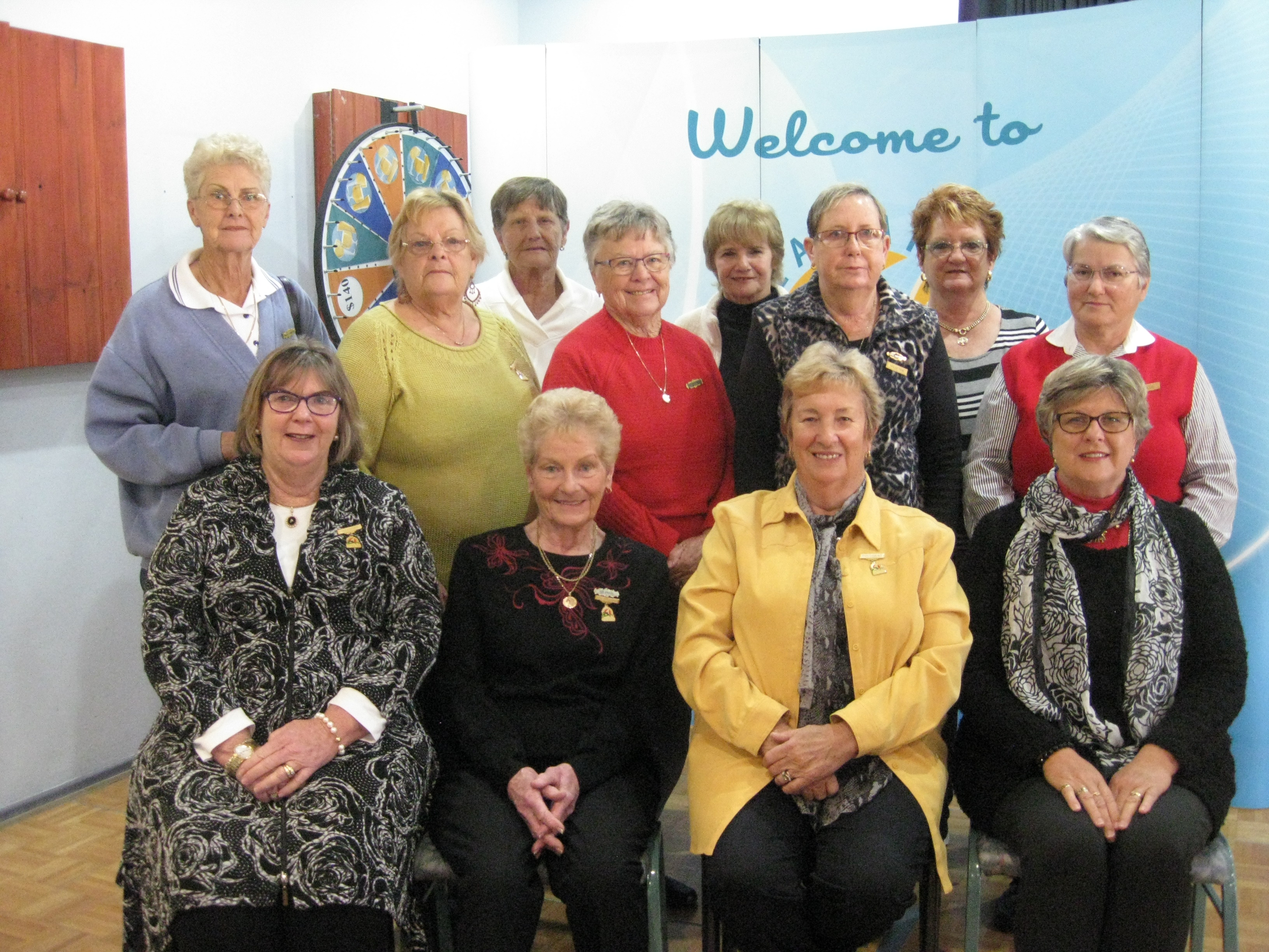 Executive Committee, Treasurer Jan Kuzmic, Vice President Margaret Smith, President Robyn Webster and Secretary Karen McPhie, with members of the various committees.