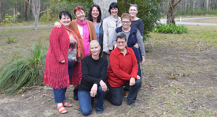 The inaugural meeting of the new Medowie's women group: (l-r; back row): Leanne Swainson, Deb Jackson, Allison Ryer, Ang Bolin, Liz Stephens, Lisa Smith. (l-r; front row, kneeling): Flick Schmitt, Marg Loeser.