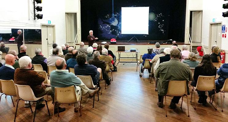 COUNCIL: Interim General Manager Glenn Handford discusses the merger in Bulahdelah. Photo: Kevin Carter.