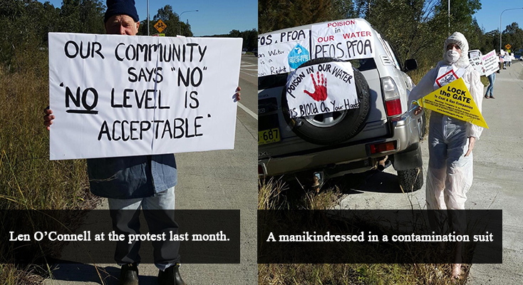 New Water Standards Cause Protest at Williamtown