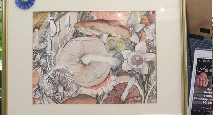 PAINTING: Pat Pritchard's award-winning painting 'Mushrooms.'