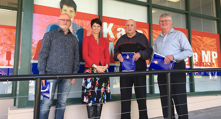 Member for Port Stephens, Kate Washington, was pleased to present three Port Stephens residents with awards this week to commemorate their 50 years of service as a Justice of the Peace