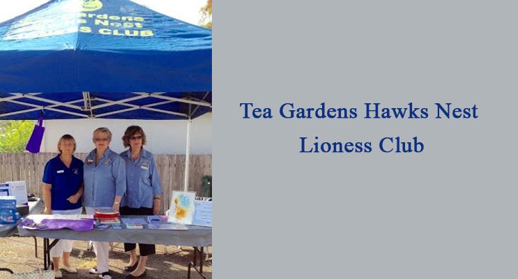 Tea Gardens Hawks Nest Lioness Club members