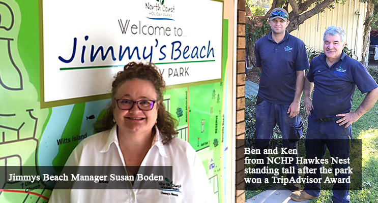 Jimmys Beach and Hawks Nest Beach Holiday Parks  awardees
