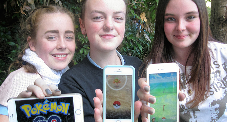 HOOKED: Olivia Magee-Scannell and Holly Towers from Bulahdelah with Abby-Jo Banks from Tea Gardens.