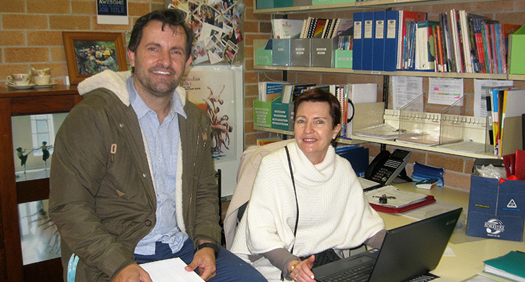 FAREWELL: Teachers Mr Rob Brown and Mrs Kerry Carter.