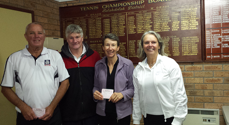 1st Division winners David Schlenert, Michael Clouten, Meredyth Rae and Thora-Lou Smith.