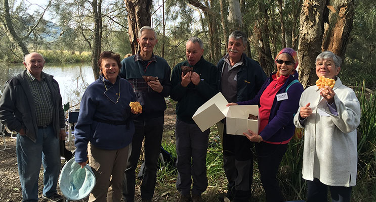 Thursday Walkers Group along the Myall River.