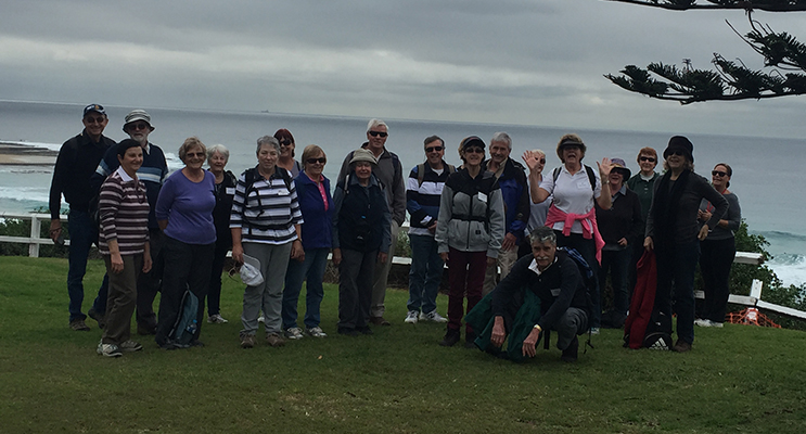 The group along the Newcastle water front.