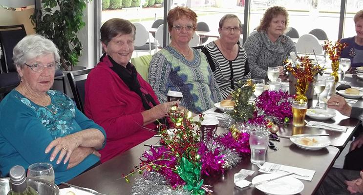 Audrey Tyne, Merle Sargeant, Deyonne Page, Liz Kelly, Vicki Rankin, Margaret Smith