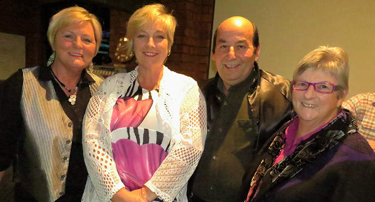 FUNDRAISER: Performer Lynda Nielsen, Committee Members Ashley and Mick Sherry and Great Lakes Women's Shelter President Julie Brady.