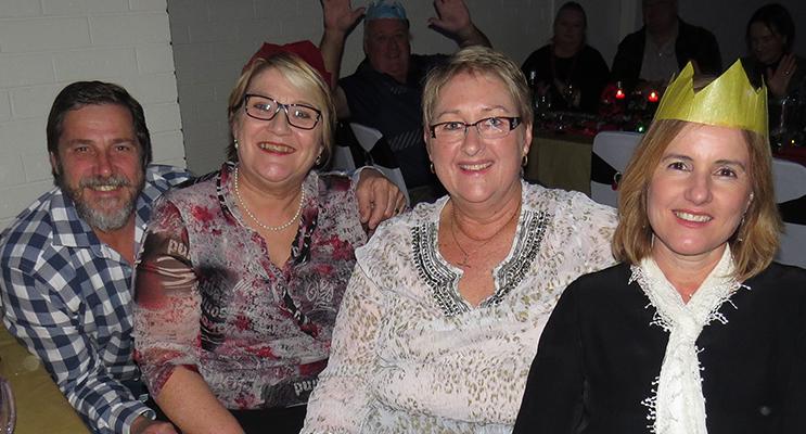 CHRISTMAS CHEER: Mark Clarence, Kath Freihaut, Maree Richards and Karen Clarence.