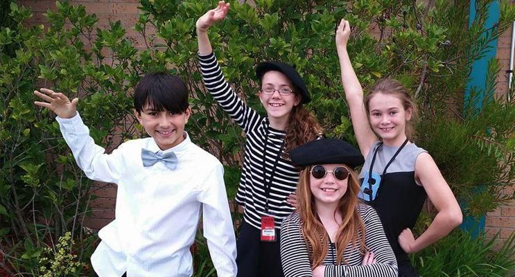 Medowie performers (l-r): Roshan Francke, Rhianna Perry, Skyla Conlon (front), and Amelia Cochrane.