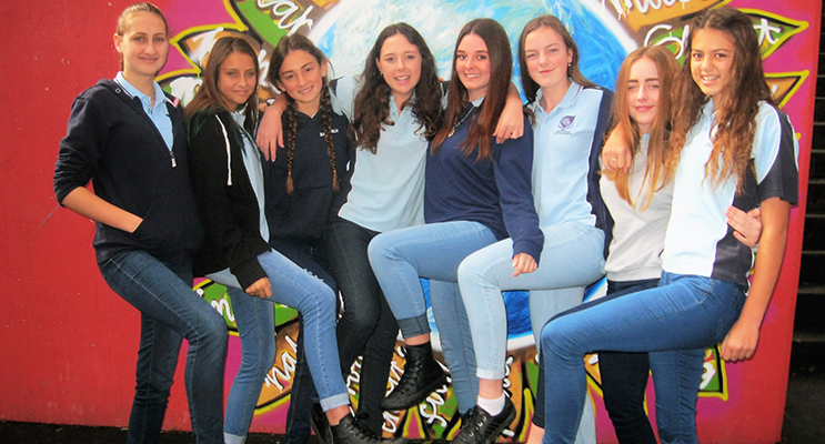 JEANS: Heidi Buchanan, Lilly Brown, Katerina Poniris, Jamie Elliott, Abby-Jo Banks, Holly Towers, Olivia Magee-Scannell and Jaylee Tassell.
