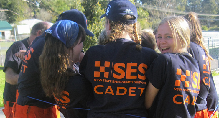 TEAMWORK: Cadets learn the importance of working together.