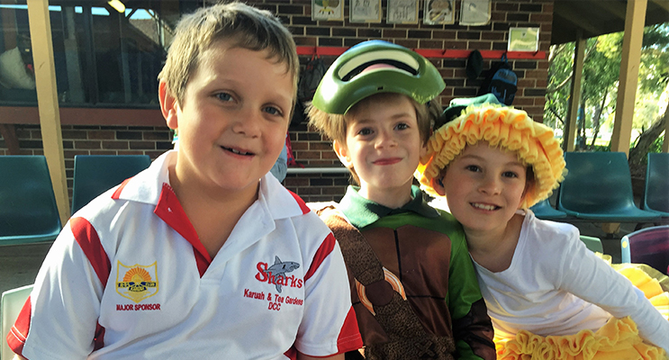 BOOK CHARACTERS: Karuah School students in costumes for the Book Week Parade.
