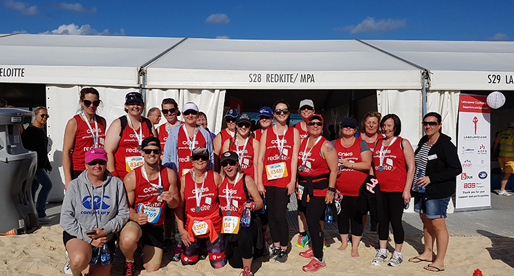 The Coles Medowie team in the Sydney City to Surf.