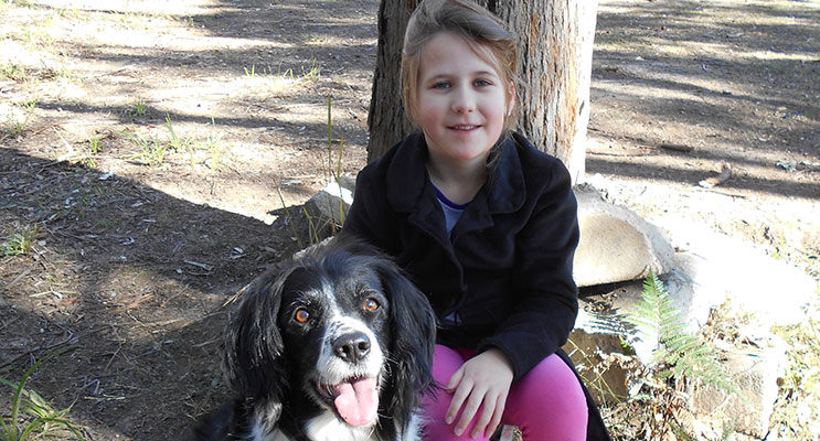 Jessica Smith with her dog Tessa. Photo by Rachael Vaughan