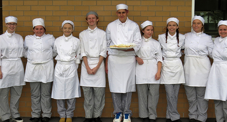 OPEN DAY: BCS Hospitality students shared their catering skills during Grandparents Day.