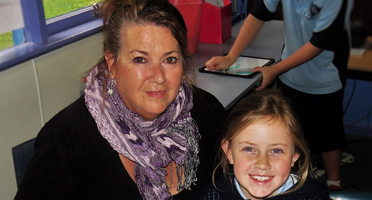 GRANDPARENTS DAY: Christine Pollard with her Granddaughter Charlie Garemyn at BCS.