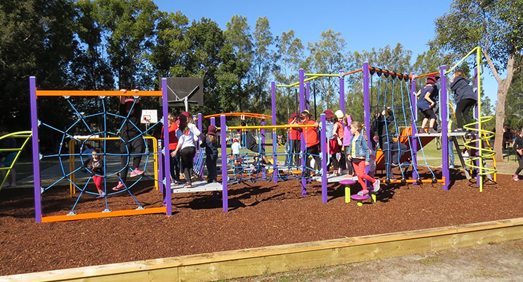 STRONGER COMMUNITIES: New playground equipment at Tea Gardens Public School was the result of fundraising efforts by the P&C and parents supported by the community.
